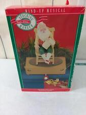 Hallmark Stocking Hanger Santa Claus Wind Up Musical with Box TESTED