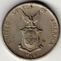 1944 S PHILIPPINES FIVE 5 CENTAVOS UNITED STATES OF AMERICA  NICE WORLD COIN