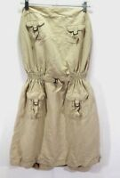 Ashley Stewart Beige Khaki Belted Dress Size 16