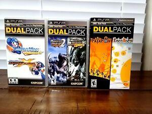 Mega Man + Monster Hunter + Loco Roco/Patapon Dual Pack Ultimate Bundle! -(CIB)-