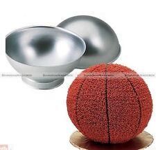 2pcs 3D Sport Aluminum Ball Sphere Cake Pan Baking Mold Bakeware Kitchen Mould