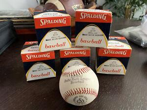 5 NOS Vintage Spalding Official Babe Ruth League Baseball No 174 41-129 Cork CTR