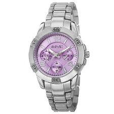 New Women's August Steiner AS8143SSPU Purple Dial Multifunction Bracelet Watch