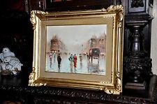 Wonderful old  Parisian street scene Painting