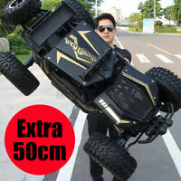1/8 4WD RC Car Monster Truck Off-Road Vehicle Remote Control Buggy Crawler Black