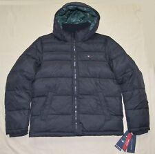 Nueva XL Tommy Hilfiger hombre acolchado chaqueta de invierno abrigo negro