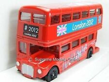 RED LONDON ROUTEMASTER BUS MODEL CORGI OLYMPICS 1:64 SCALE TY82319 VERSION R01