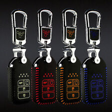 1pc leather remote key Case Cover Holder For Honda civic 10th/Accord #KC85