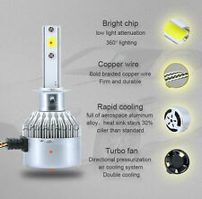 2PCS H8 H9 H11 200W 20000LM CREE COB LED Headlight Kit High Low Beam Bulb 6000K