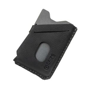 Grip6 Wallet w/Leather cover, Gunmetal/Black