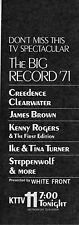 1971 TV MUSIC AD~BIG RECORD '71~LED ZEPPLIN~STEPPENWOLF~CREEDENCE CLEARWATER