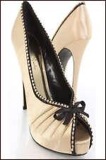Size 8.5 Womens Shoes Gold Black Satin Rhinestones Platform Pumps Heels NEW NIB