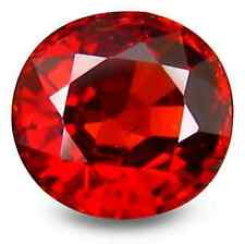 1.26 ct Natural Round-cut Red Spessartite VVS Garnet (Namibia)