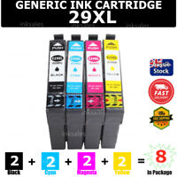 8x Generic 29XL 29 XL T2991 Ink Cartridge For Epson XP235 XP432 XP435 XP245 442