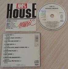 RARE CD album COMPILATION 100 % HOUSE MUSIC 9 TITRES 1988