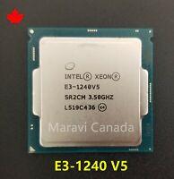 Intel Xeon E3-1240 V5 SR2CM 3.5GHz Quad 4 Core LGA 1151 85W CPU Processor