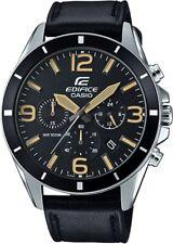 Casio Edifice Men's Quartz Black Leather Strap 45mm Watch EFR-553L-1BV
