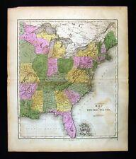1859 Gall & Inglis Map United States Wisconsin Michigan Missouri New York USA