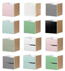Kallax Ikea Einsatz mit Tür oder Schublade ohne Griff rosa, grau,blau,grün,weiß