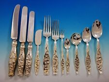 Lily of the Valley by Whiting Sterling Silver Flatware Set Dinner Service 136 Pc