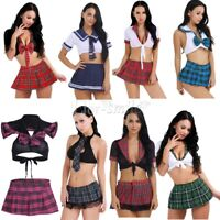 Women Sexy Lingerie Uniform Fancy Dress School Girl Costume Cosplay Outfit