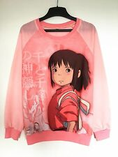 Studio Ghibli Spirited Away Chihiro Haku Long Sleeve T-shirt Jumper Sweater