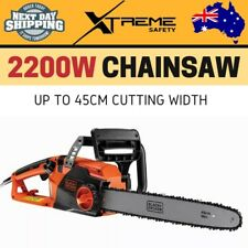 New 2200W Commercial Chainsaw 45cm 12.5m/s Chain Speed Pruning Wood Tree Cutting