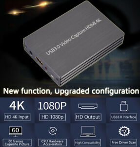 4K 60fps HDMI USB 3.0 Video Capture Card Game Live Stream Screen Record FN