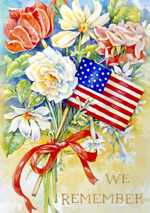 Toland We Remember  28 x 40 Decorative Patriotic Memorial House Flag
