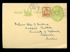 NEW ZEALAND to SWEDEN 1946 STATIONERY CARD
