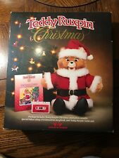 Vintage Teddy Ruxpin Santa Claus Christmas Outfit - with Box + Tape + Book 1985
