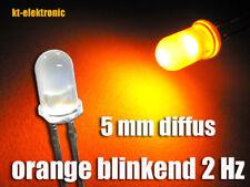 10 Stk. Blink-LED 5mm orange matt diffus blinkend 2 mal pro Sekunde 1.5-2.5 Hz