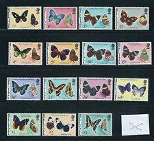 Belize 1974-77 Mariposas Largo Juego (Scott 345-59 Corto 360) VF MNH