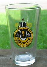 Foothills Brewing Company Pint Beer Glass 10th Anniversary