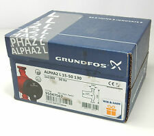 GRUNDFOS ALPHA 2 L 15-50 130 230V CENTRAL HEATING CIRCULATING WATER PUMP NEW