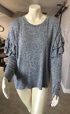 Xhilaration Sleepwear Grey Long Sleeve shirt ruffle Arm size Large