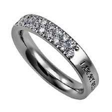 Beautiful Stainless Steel Covenant Purity Ring I Am My Beloved Solomon 6:3