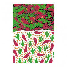 Fiesta Mexicaine Fête Décoration de table ROUGE CHILI Vert Cactus Confetti