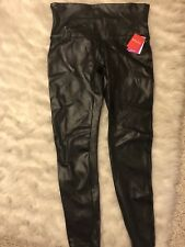 SPANX faux Leather Leggings 1x XL Plus Size NWT Black