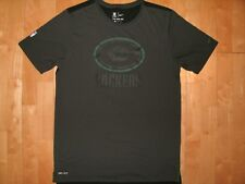 NIKE NFL Mens GREEN BAY PACKERS Football On Field Apparel Large Black Gray Shirt