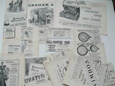 ADVERTS 1897 COCOA Cycles  HAIR SHAMPOO Soap GLOVES Cooking WATCH Pens FASHION
