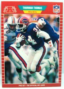 Thurman Thomas 1989 pro set Rookie RC football card #32