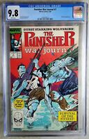 Punisher War Journal #7 Wolverine Marvel 1989 CGC 9.8 NM/MT WPages Comic Q0066
