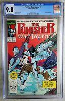 Punisher War Journal #7 Wolverine Marvel 1989 CGC 9.8 NM/MT WPages Comic Q0066