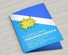 100 CARTELLINA PERSONALIZ CARTELLE PERSONALIZZATE- 100 PZ - CARTELLINE CON TASCA