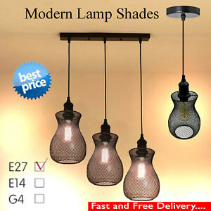Permo Vintage Industrial 3Head Metal Lamp Shade Loft Black Ceiling Pendant Light