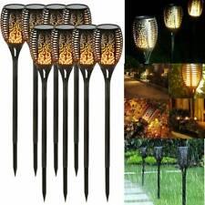 1/4 Pack Solar LED Lights Flickering Landscape Lamps Dancing Flame Torch Garden