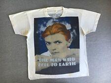 DAVID BOWIE Shirt 80s Vtg Fifth Column Man Who Fell To Earth Movie Sci Fi RARE L