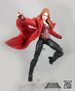 XS Long Red Faux Leather Trench Coat for Marvel Legends Scarlet Witch(No Figure)