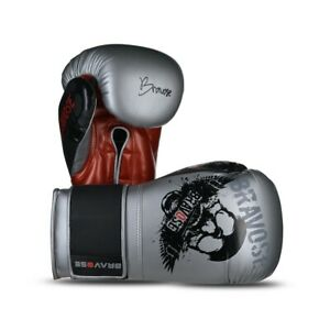 Bravose Skull Premium Quality Leather Boxing Gloves for bag and sparring